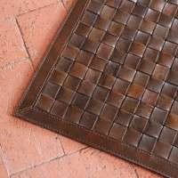 编织皮革地毯 制造商