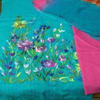 Hand Painted Dress Material Manufacturers