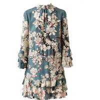 印花丝绸连衣裙 制造商