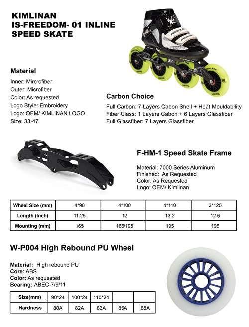 2020年中国KIMLINAN IS-FREEDOM- 01直排轮滑鞋制造