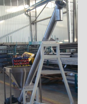 Wheels Food Grain Screw Conveyor