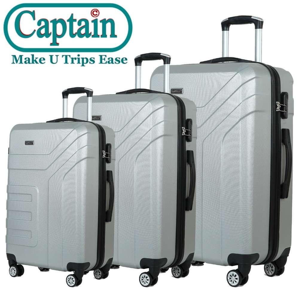 Factory Direct Carry On TSA Lock 2 Piece Set PC ABS  Zipper Frame Luggage