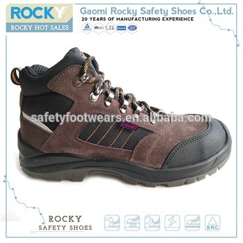 s1 steel toe brown suede ladies safety shoes
