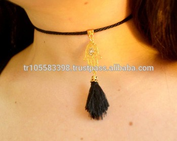 leather pendant Choker Accessories