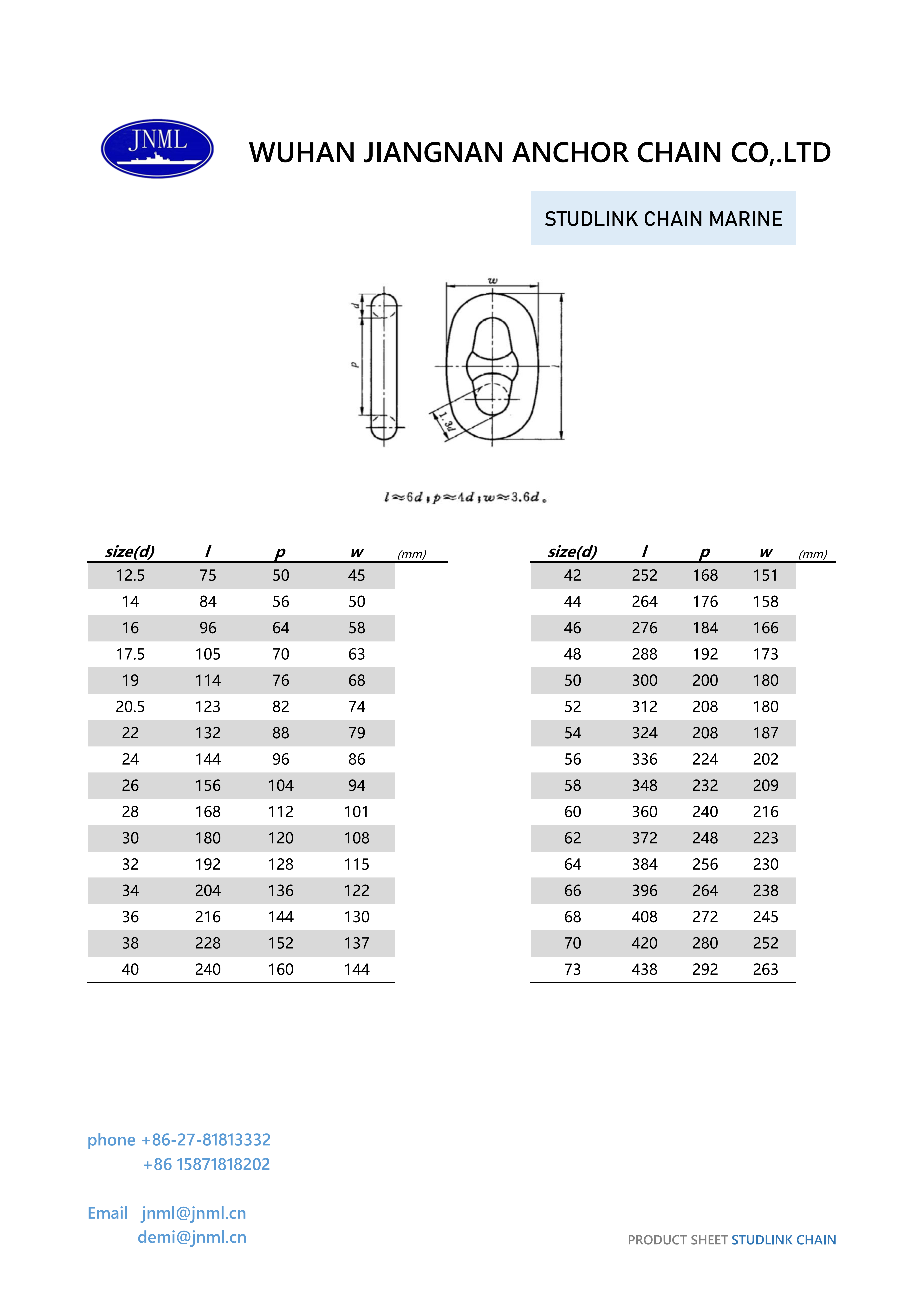 Stud Link Anchor Chain/ Studless Link Anchor Chain