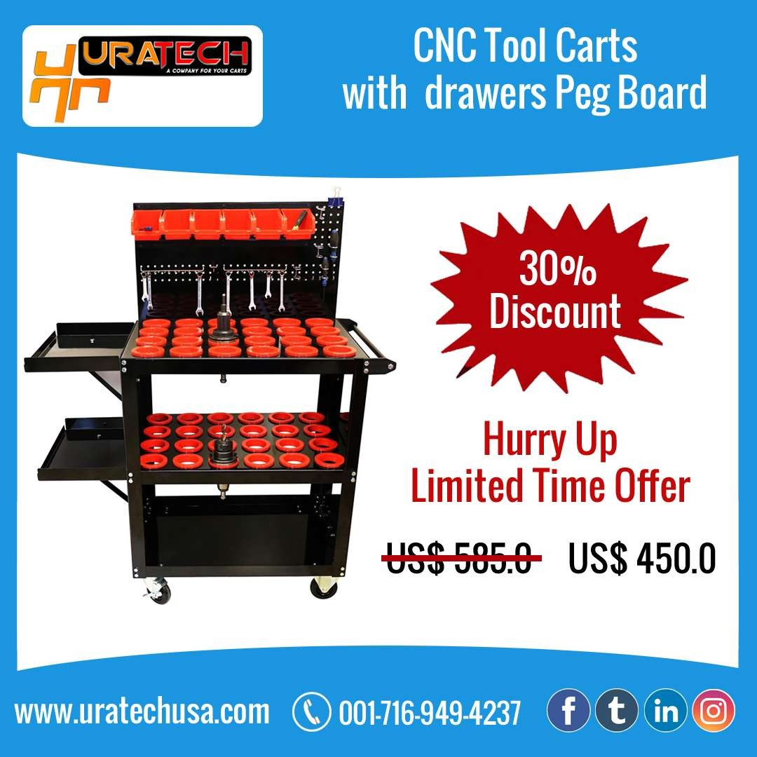 CNC Tool Carts with Drawers