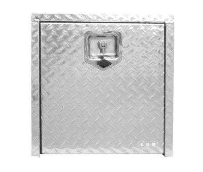 Custom made aluminium  check plate truck tool box