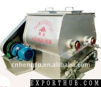 High effciency double paddle feed mixer machine