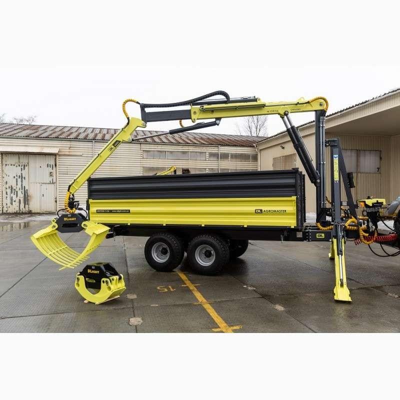 Hydraulic Semi-trailer With Manipulator Crane For Tractor