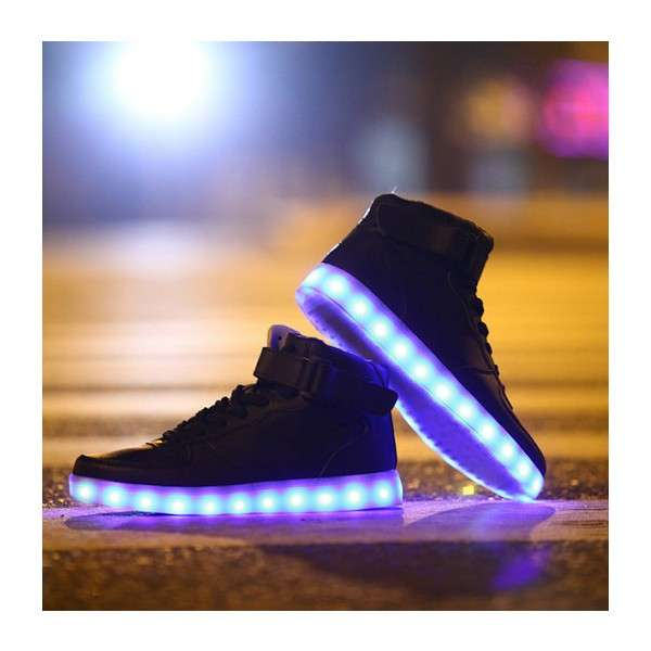 Led Light On Shoes Led Shoes Rubber Sole Led Flashing Running Shoes