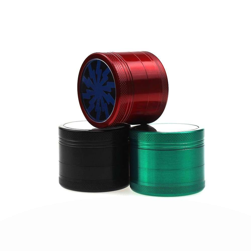 40毫米草药研磨机锌合金混合色草药研磨机除草机吸烟配件
