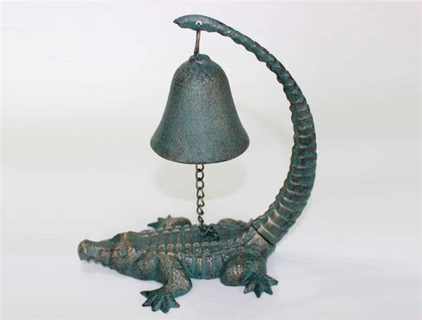 Cast Iron Bell with alligator