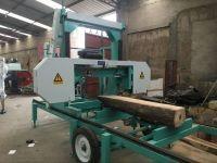 Wood Sawmill Machinery Horizontal Band Saw Diesel Engine Powered Portable Sawmill