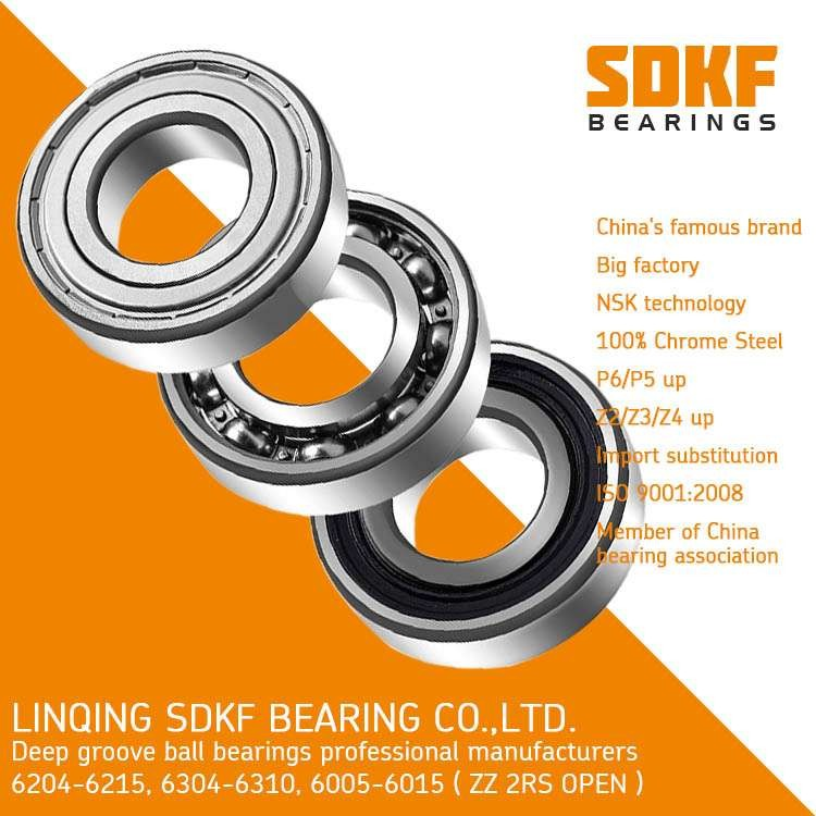 SDKF Deep Groove Ball Bearing 6305-ZZ-2RS China Top Brand