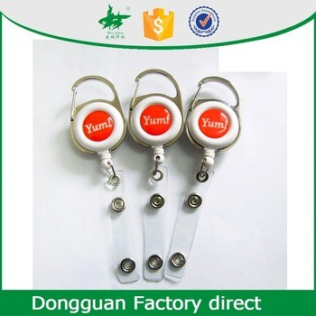 Retractable Reel Yoyo Clips For ID Card Badge Holder From
