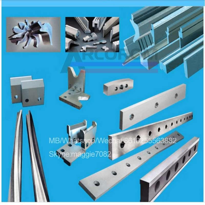 定制的锻造刀片/切割刀片和冲头和模具/用于钢材切割的硬质合金切割刀片