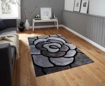 3D design modern shaggy carpets