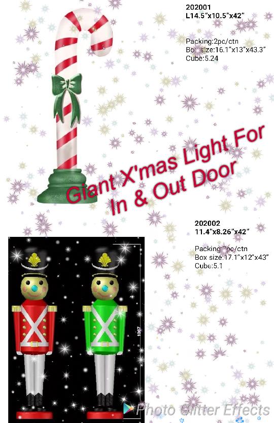 圣诞老人,雪人,营养师,蜡烛进/出门圣诞巨型灯