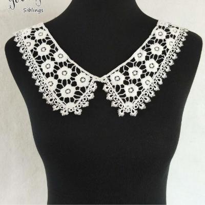 女士服装刺绣乳白色聚酯项圈