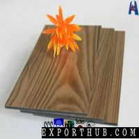 Wooden Facing Outdoor Wall Decor Aluminio ACP Panel
