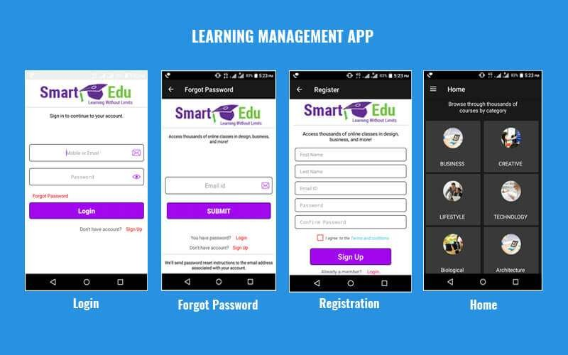Mobile LMS App - Online Learning Management Application