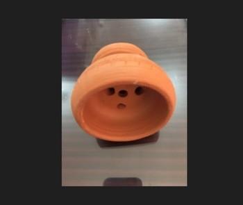 Clay hookah bowl