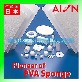Industrial-use PVA sponge as filter element for air and gases