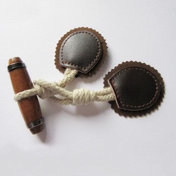 Fancy Leather Accessory Custom Woodern Button