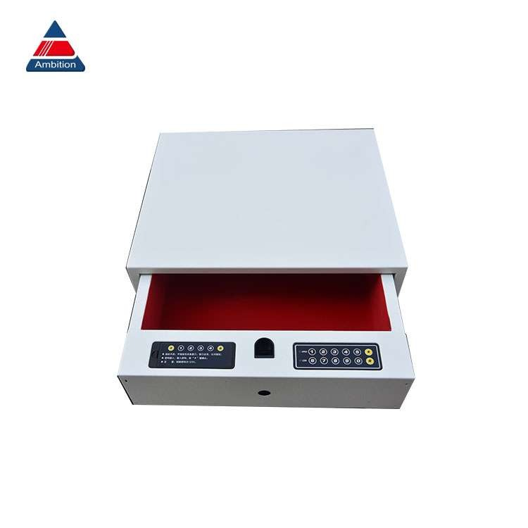 White Electric Lock Automatic Open Drawer Safe