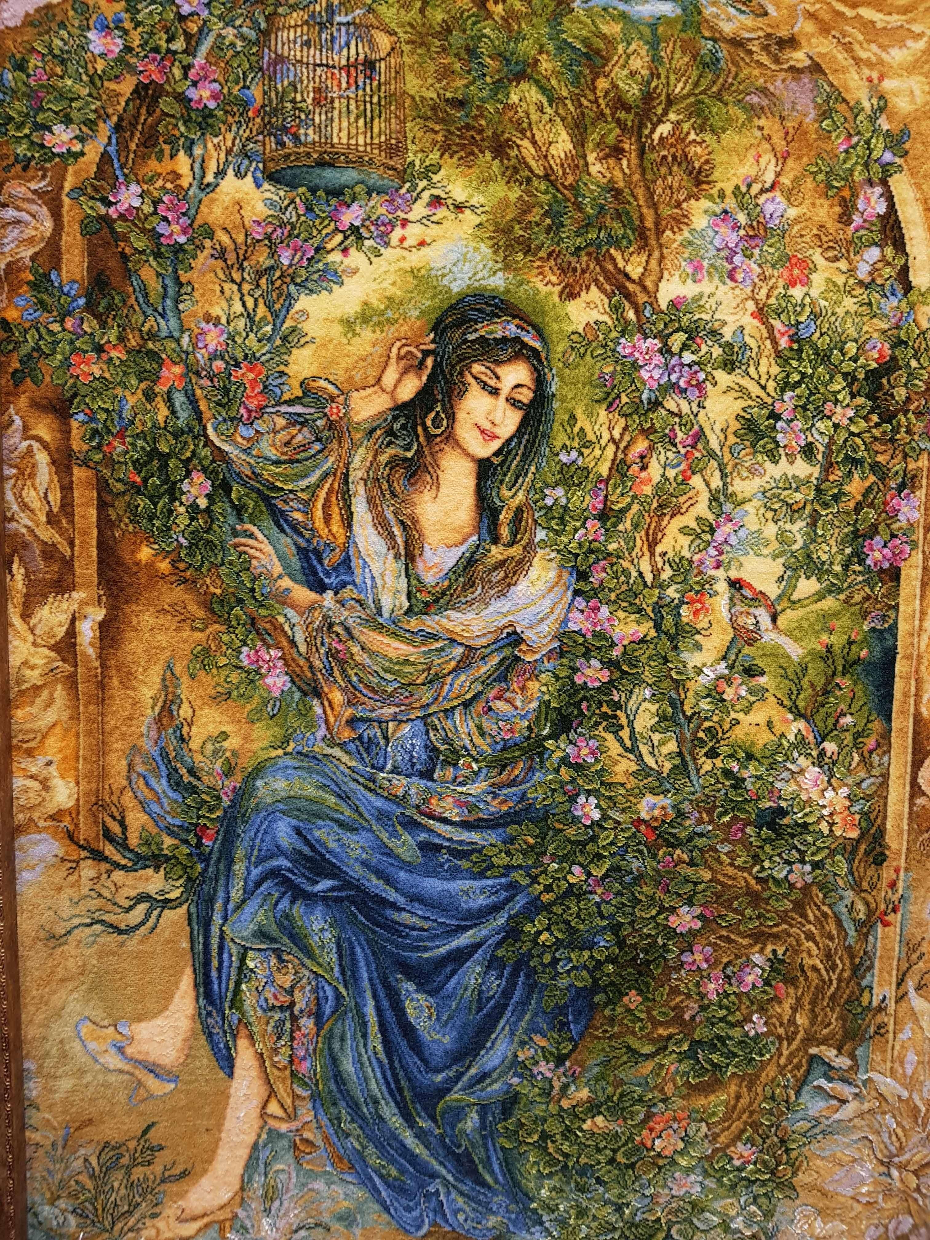 波斯地毯雕像,微型风格,被称为调解人