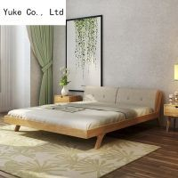 design double bed wood bed