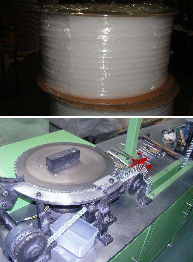 Plastic Strip Belt For Collating Of Screws