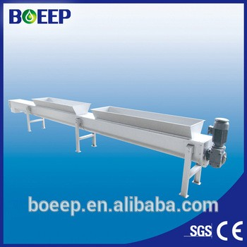 Screw conveyor sludge waste and etc