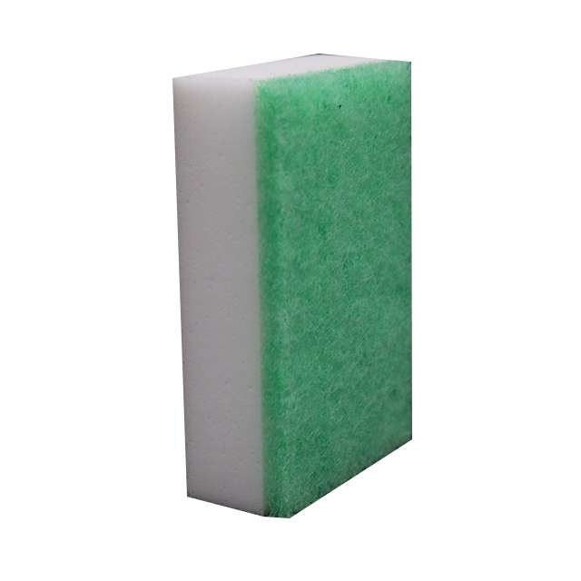 Melamine foam with Scouring pad composited sponge