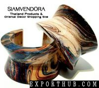Dazzling Handpainted Wooden Bangle