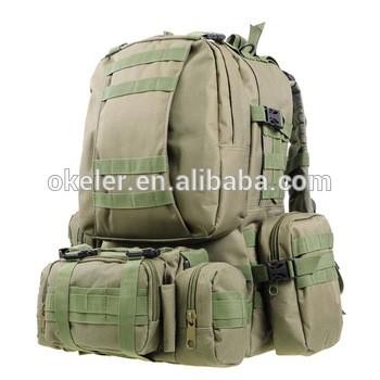 dac4508b0ec9 Combined 50L Army Green Trekking Bag Military Camping Back Pack Como ...