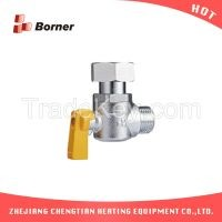 1520 Angle gas valve boiler wallhanging stove link accessories brass