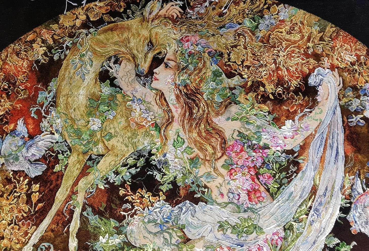 波斯手工图案地毯(地毯Tableau)
