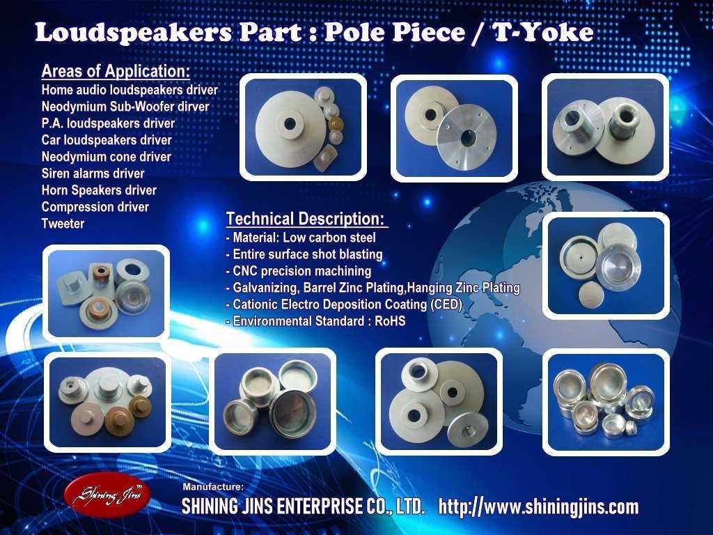Speakers part: T-Yoke made in Taiwan