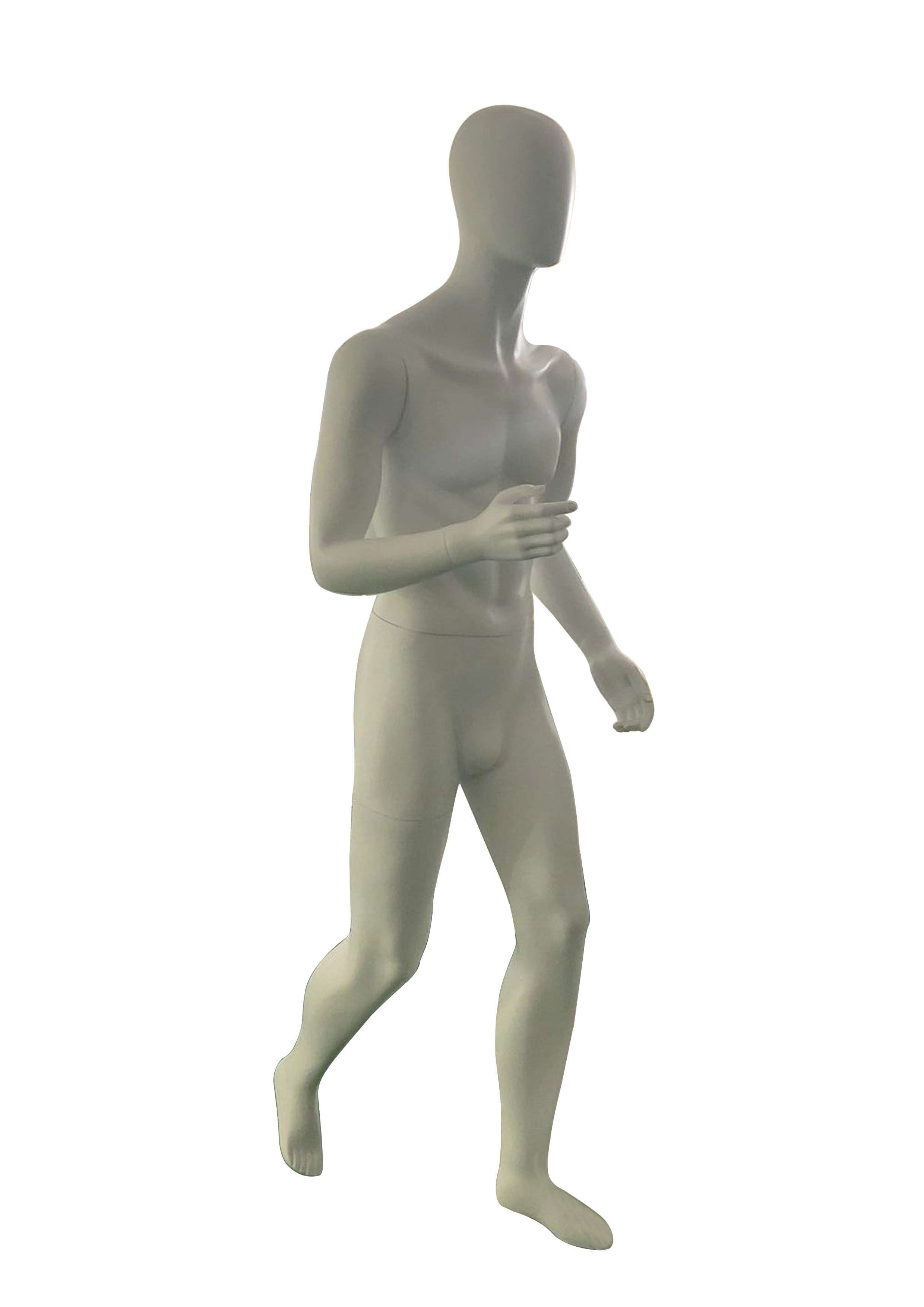 Jolly mannequins-New lifelike white matte color male running mannequin egghead mannequins JY-HMR
