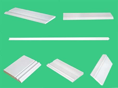 waterproof solid painting&white radiata pine primed Wooden wall Baseboard manufacturer