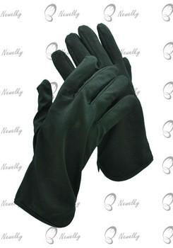 Cotton Black Nock Cuff Gloves