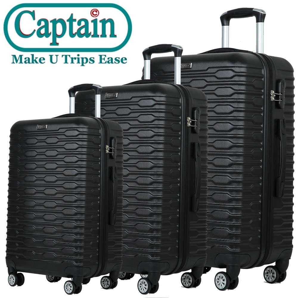 Fashion 20inch 24inch and 28inch Sets ABS Trolley Luggage in China