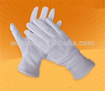 cotton white work gloves etiquette command parade driver three tendons gloves