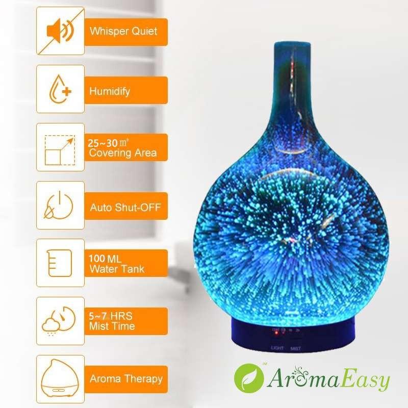 Wholesale 3D Fireworks Essential Oil Aroma Diffuser X117U