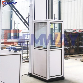 Small hydraulic indoor and outdoor home lift elevator